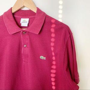 Lacoste Bordeaux Piqué Polo Shirt  XL
